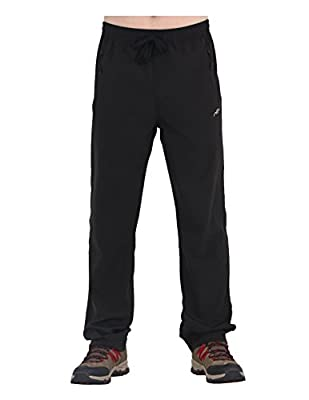 Trailside Supply Co. Men's Stretch Quick Drying Elastic-Waist Drawstring Track Running Gym Pants