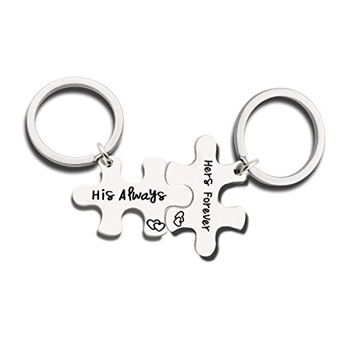 Couples Jewelry Accessories Silver Key Chains Rings Keychain Gifts for Husband Wife Boyfriend Girlfriend (1)