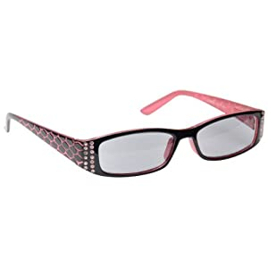 The Reading Glasses Company Pink & Black Sun Readers UV400 Designer Style Womens Ladies S1-4 +1.50