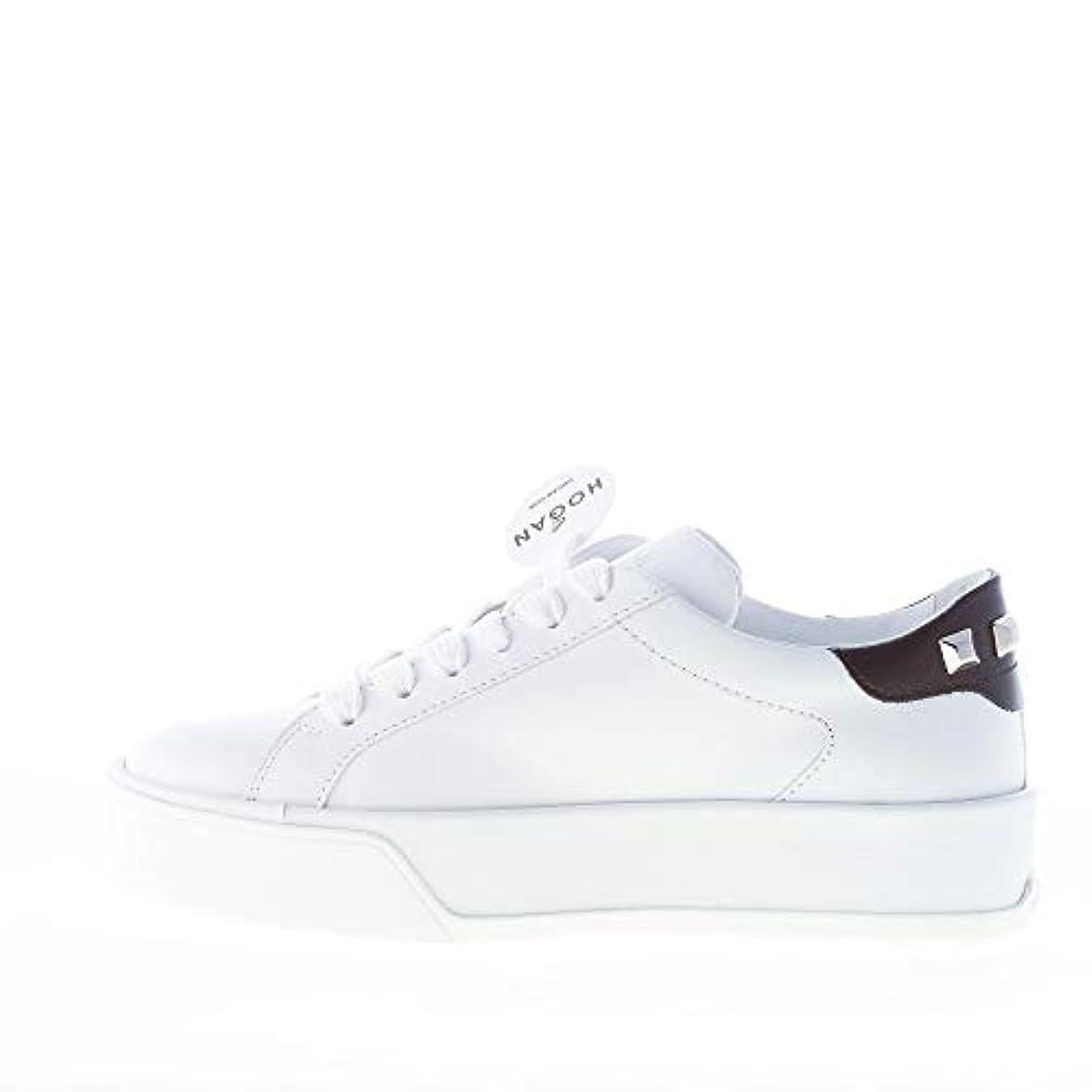 Hogan Donna R320 Sneaker In Pelle Bianco Con Borchie