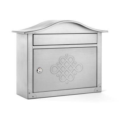 Architectural Mailboxes 2550SNE Peninsula Locking Wall Mount Mailbox with Eternity Embossing, Satin - Mailboxes Peninsula Wall Architectural