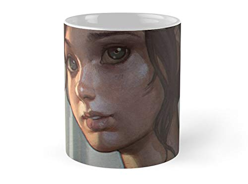 Hued Mia Ellie, The Last of US Mug - 11oz Mug - Features wraparound prints - Dishwasher safe - Made from Ceramic - Best gift for family friends (Ellie From The Last Of Us Drawing)