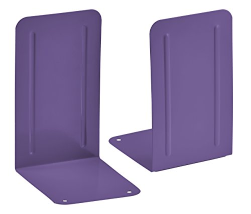 - Acrimet Premium Metal Bookends (Heavy Duty) (Purple Color) (1 Pair)