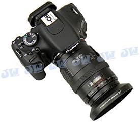 JJC LN-58W 58mm Metal Lens Hood For CANON EF-S 18-55MM 1:3.5-5.6 Wide-Angle Lens