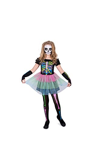 Bones Skeleton Girls Costumes (Skeleton Bones Tutu Girl Costume Set - For Halloween, Costume Party - Medium)