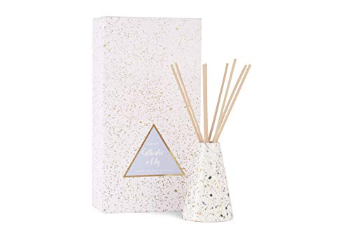 Collection Reed Diffuser - Paddywax Confetti Collection Reed Diffuser Set, 4 oz, Salt Water + Lily
