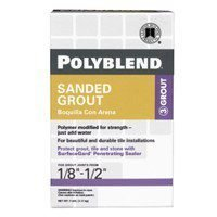 Custom Building Products 381 Polyblend Pbg 7-4 Sanded Tile Grout?, 7 Lb, Box, No Bright, Solid Powder, 7-Pound, White