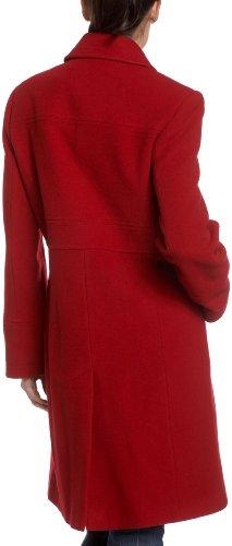 Larry Levine Women's Single Breasted Walker Shirt Collar, Scarlet, 12