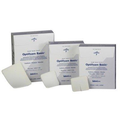 Medline MSC1133Z Optifoam Basic Non-Adhesive Dressings, 3