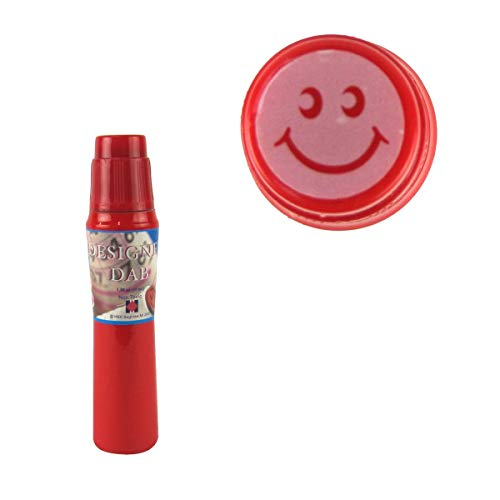 TG,LLC Fast Drying Bright Pink Ink Smile Face Self Inking Marker Bingo Dauber Game Accessory