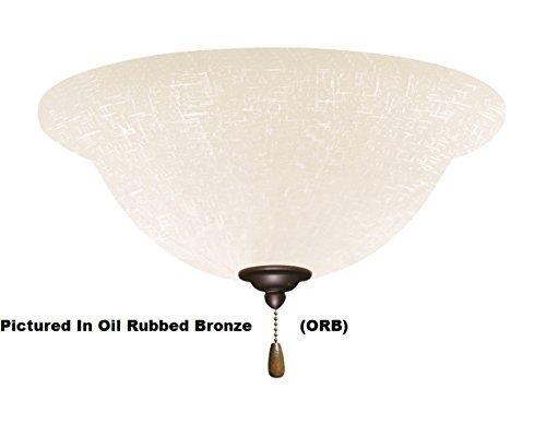 Emerson Ceiling Fans LK77AB White Linen Light Fixture for Ceiling Fans, Medium Base CF