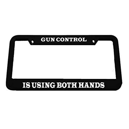 license plate frame pro gun - 2