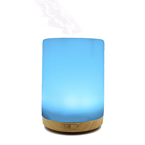 200ML Essential Oil Diffuser -Glowseen Aromatherapy Ultrasonic Cool Mist Humidifier with Colorful LED light Auto Shut-Off for Spa ,Home ,Kitchen and Office by GS GLOWSEEN (Image #1)