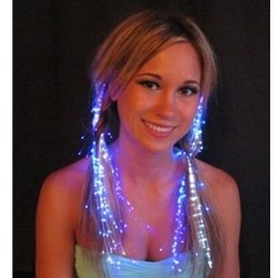 Pink Glowbys Hair Accessory (Glowbys LED Fiber Optic Light-Up Hair Barrette - Pink)