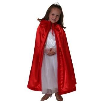 Choose Color Girls Satin Hooded Princess Cloak with Faux Fur Trim
