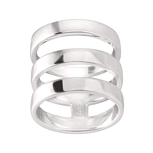 Silpada 'Contemporary Art' Triple-Bar Ring in Sterling Silver 1