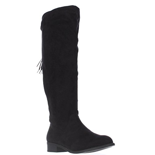 Fabric Toe Knee Black Fashion Boots Thalia Closed Womens High Sodi Eliz 6q6x1FT