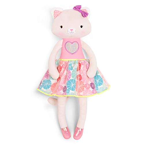 B. Toys - Tippy Toes - Cali Cat - Soft & Cuddly Plush Cat Doll - Stuffed Animal Toy - Non-Toxic - Washable - 18 Months +