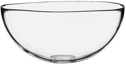 Bol cuenco, cristal transparente, diámetro: 28 cm, altura: 13 cm ...