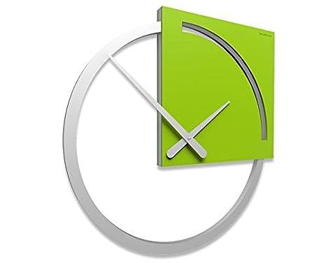 CalleaDesign - Orologio da parete Karl, Colore: Verde Mela: Amazon ...