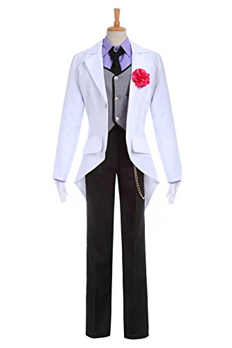 Mens White Formal Long Sleeves Swallowtail Uniform Sets