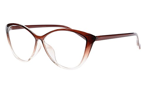 SHINU Anti Blue Light Women's Cateye Progressive Multifocus Reading Glasses-MAT5865(brown,0/175)