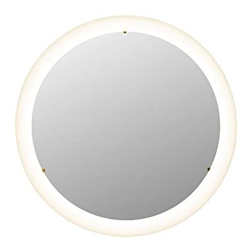 IKEA STORJORM -Spiegel mit integrierter Beleuchtung weiß - 47 cm ...