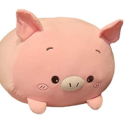 FGTLJ Giant PP Cotton Soft Pig Plush Body Pillow, Large Pink Piggy Stuffed Farm Animals, Cuddle Pigglet Jumbo Hugging Toy Gifts for Kids, 33.5Inch: Home & Kitchen