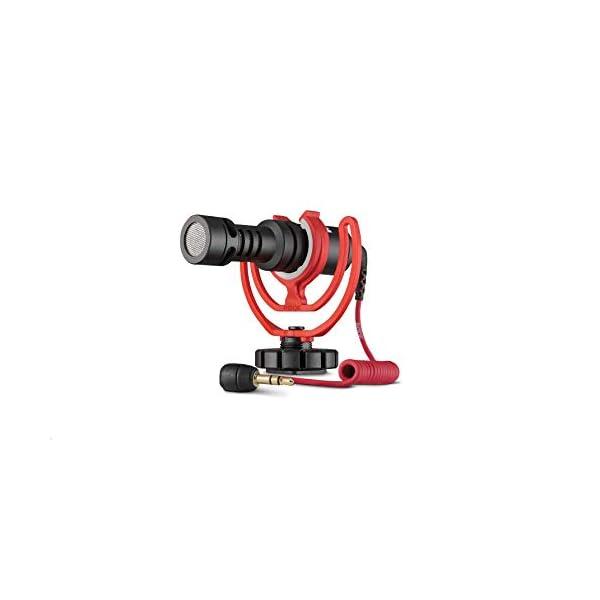 Rode VideoMicro - Microfono Direzionale Compatto per fotocamere DSLR, videocamere e registratori audio portatili, Jack 3,5 mm, Colori assortiti, 1 pezzo 2 spesavip