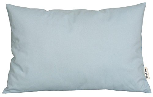 TangDepot174; Thin Canvas Pillow shams, 100% Cotton – Handmade – Many Colors and Sizes Available – (12×18, Light Blue)