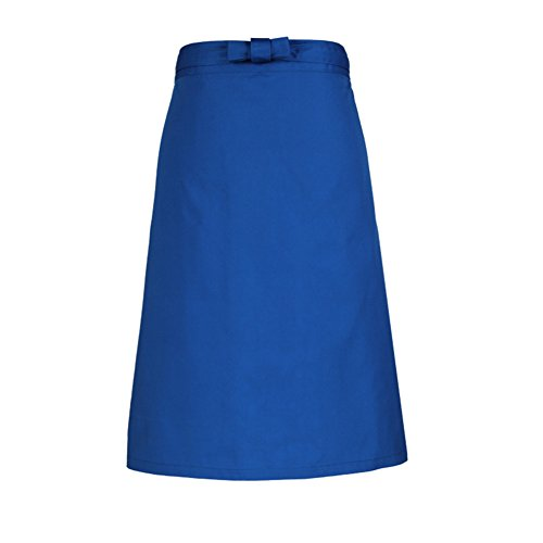 Blue Green Kitchen Cooking Half Short Waist Apron for Women Girls and Man Fashion Waiter Aprons