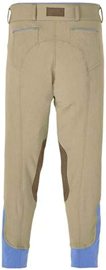Dover Saddlery Girls Wellesley Knee-Patch Breech Size 10 Charcoal//Baltic