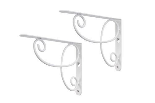 Decopolitan 26615 Loop Pair Bracket Pair for Shelves, White (Shelve Brackets Decorative compare prices)