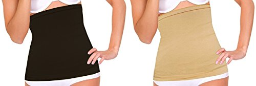 DIDI USA Extra-Wide Detox Stomach Wraps Black & Nude (Set of 2) - Costume Made Converse