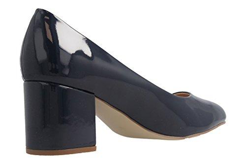 FITTERS Footwear - SESY - Donna Scarpe scollate - blu marino LACCA Scarpe in taglie grandi