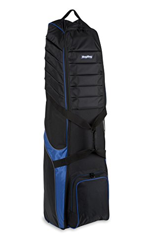 Deluxe Wheeled Golf Bag - Bag Boy T-750 Wheeled Travel Cover Black/Royal