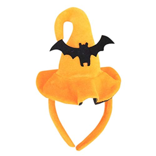 Clearance Sale! Baby Halloween Headband for Boys Girls, Iuhan Happy Halloween Pumpkin Face Ghost Bat Hats Hairband Headwear Photography Props Gifts (E)]()