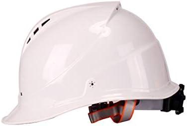 LCSHAN 日よけのヘルメットの建築現場の補強通気性および耐衝撃性 (Color : White)