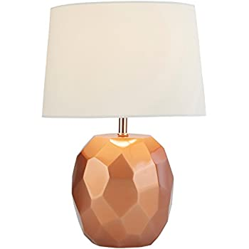 Adesso 1517 20 linda 215 table lamp copper smart outlet rivet copper geometric table lamp with bulb 115 x 115 x 168 copper keyboard keysfo Gallery