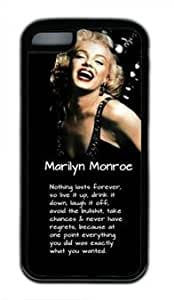 Funny Marilyn Monroe Quote customized Iphone 5C TPU Black Case hjbrhga1544