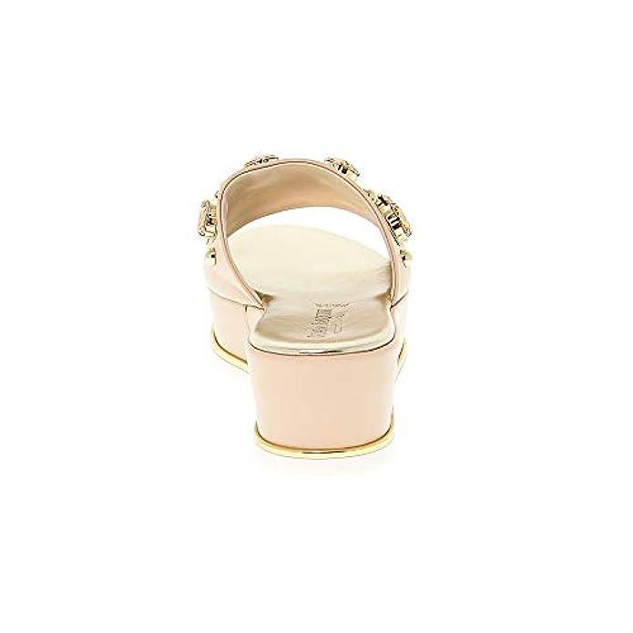 Scarpe E Borse Da Donna Col Tacco Pasquini Calzature Zeppe Pasqu2101 Pelle Rosa