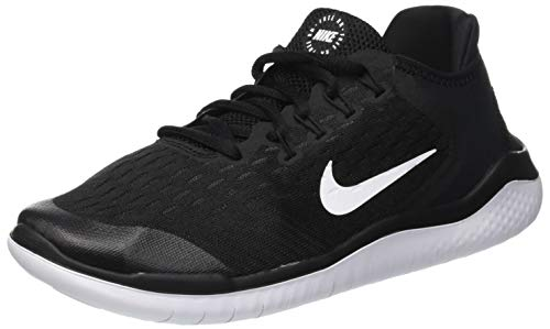 Nike Boy's Free RN 18 Running Shoe, Black/White, 6.5Y (Boys Nike Free Running Shoes)