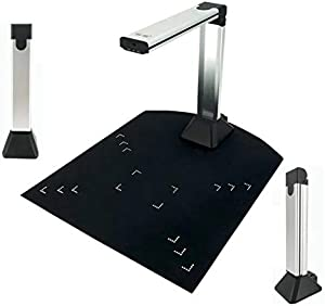 PureFlo Portable Document Camera! Scanning Cam Made Easy! Use with a Laptop or Computer. Acts as a Webcam or Overhead Projector. USB Connected Web Camera for Teachers with a Stand.