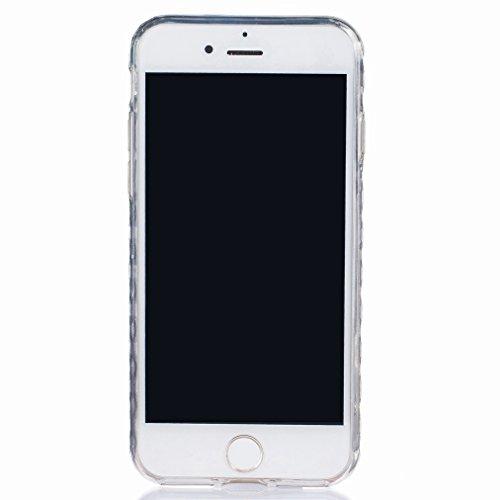 Ougger Apple iPhone 7 Custodia Case, Antigraffio Trasparente Cristallo Durevole Slim Morbido TPU Gomma Silicone Flessibile Protettivo Skin Shell Bumper Rear (Modello 6)