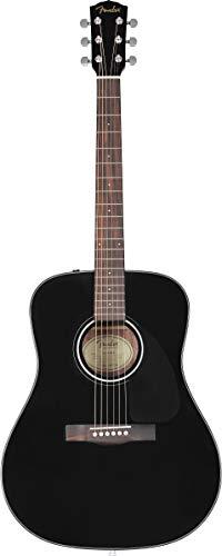 Fender CD-60 Dreadnaught Acoustic Guitar (V3) – With Case – Black – Walnut Fingerboard