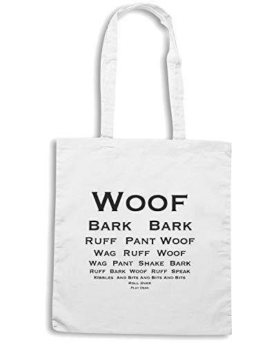 TEST DOG Bianca Speed EYE Shopper Shirt SILHOUETTE WES0601 FUNNY Borsa 8Ya4wq
