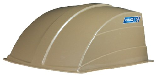 Camco 40463 RV Roof Vent Cover, Opens For Easy Cleaning, Aerodynamic Design, Easly Mounts to RV With Included Hardware (Champagne) by Camco