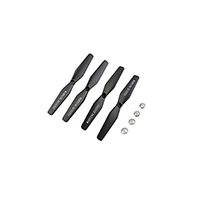 Feccile 8 Pcs Propeller 4 Pcs Protective Cover Quadcopter Spare Parts Aircraft Model UAV Propeller Plus Protective Cover Set for VISUO XS809 XS809S XS809W XS809HW Drone: Toys & Games