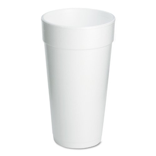 Dart 20J16 Foam Drink Cups, 20oz, 25 Per Pack (Case of (20 Oz Styrofoam Cups)