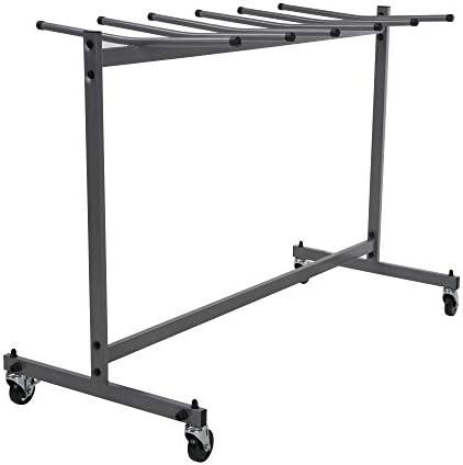 ZOWN Commercial Heavy Duty Folding Chair Trolley Cart, Gray